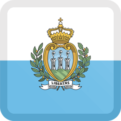 Flag of San Marino - Button Square