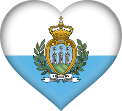 Flag of San Marino - Heart 3D