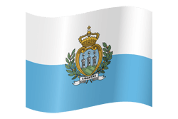 Flag of San Marino - Waving