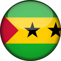 Flag of São Tomé and Príncipe - 3D Round