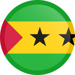 Flag of São Tomé and Príncipe - Button Round