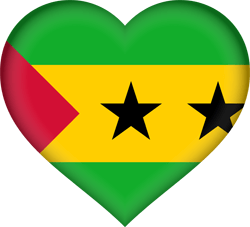 Flag of São Tomé and Príncipe - Heart 3D
