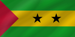 Flag of São Tomé and Príncipe - Wave