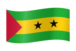 Flag of São Tomé and Príncipe - Waving
