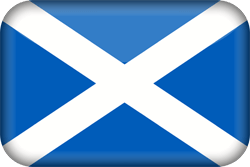 Flag of Scotland - 3D