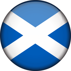 Flag of Scotland - 3D Round