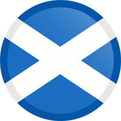 Flag of Scotland - Button Round