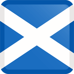 Flag of Scotland - Button Square
