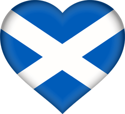 Flag of Scotland - Heart 3D