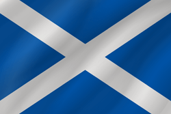 Flag of Scotland - Wave