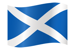 Flag of Scotland - Waving