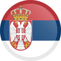 Flag of Serbia - Button Round