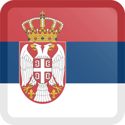 Flag of Serbia - Button Square