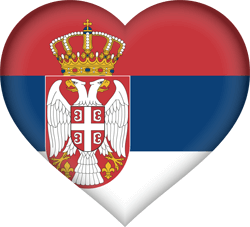 Flag of Serbia - Heart 3D