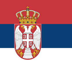 Flag of Serbia - Square