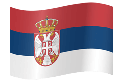 Flag of Serbia - Waving