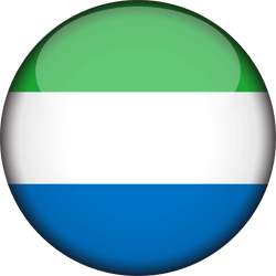 Flag of Sierra Leone - 3D Round