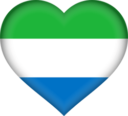 Flag of Sierra Leone - Heart 3D