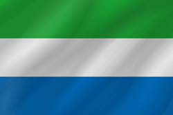 Flag of Sierra Leone - Wave
