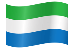 Flag of Sierra Leone - Waving