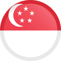 Flag of Singapore - Button Round