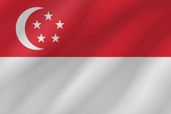 Drapeau de Singapour - Vague