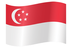 Flag of Singapore - Waving