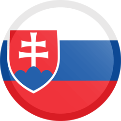 Flag of Slovakia - Button Round