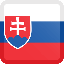 Flag of Slovakia - Button Square