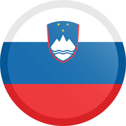 Flag of Slovenia - Button Round