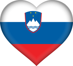 Flag of Slovenia - Heart 3D