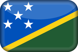 Flag of the Solomon Islands - 3D
