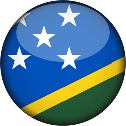 Flag of the Solomon Islands - 3D Round