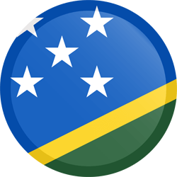 Flag of the Solomon Islands - Button Round