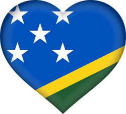 Flag of the Solomon Islands - Heart 3D
