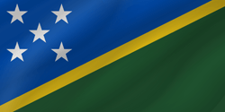 Flag of the Solomon Islands - Wave