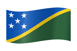 Flag of the Solomon Islands - Waving