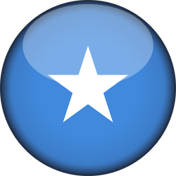 Flag of Somalia - 3D Round