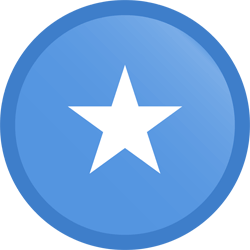 Flag of Somalia - Button Round