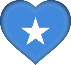 Flag of Somalia - Heart 3D