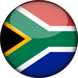 Flag of South Africa - 3D Round