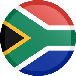 Flag of South Africa - Button Round