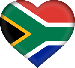 Flag of South Africa - Heart 3D