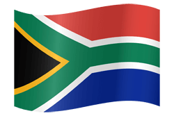 Flag of South Africa - Waving