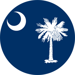 Vlag van South Carolina - Rond