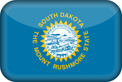 Flagge von South Dakota - 3D