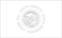 Flag of South Dakota - A4