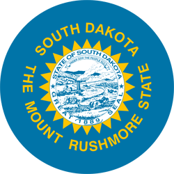 Drapeau de South Dakota - Rond