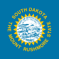 Flagge von South Dakota - Quadrat