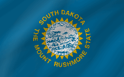 Flagge von South Dakota - Welle